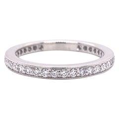 Tiffany & Co Legacy Collection Full Circle Diamond Wedding Band Ring Plat