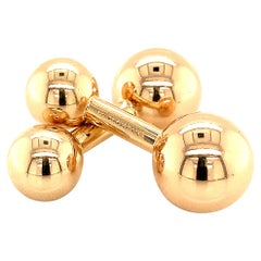 Tiffany & Co. Estate Barbell Cufflinks 14k Yellow Gold