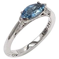 Tacori Simply Tacori East West Marquise Shape Aquamarine Ring