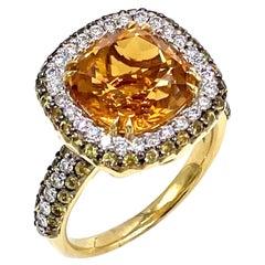 Vanna K Citrine Ring with Yellow Sapphires