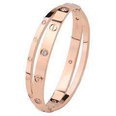 Cartier Limited Edition Rose Gold Diamond Love Bracelet