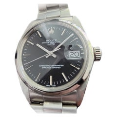 Mens Rolex Oyster Perpetual Date 1500 Automatic with Pouch 1960s RA160