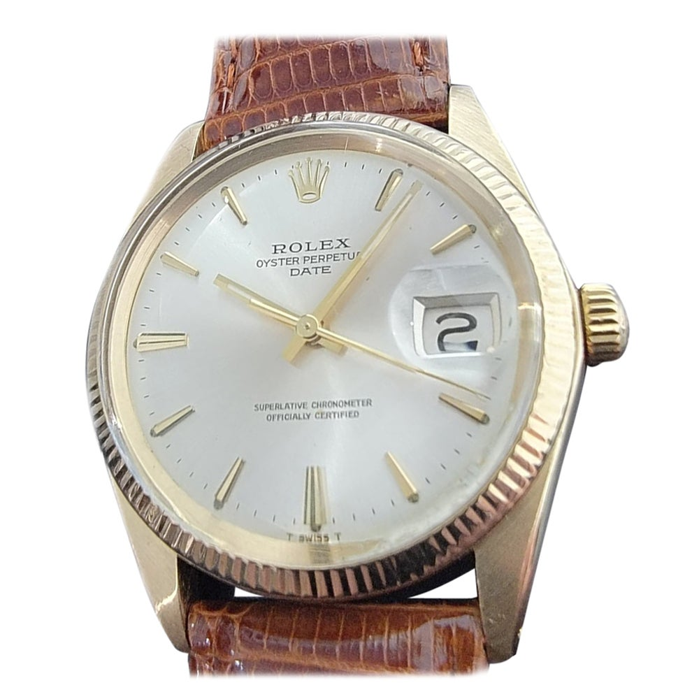Mens Rolex Oyster Perpetual Ref.1503 14k Solid Gold Automatic, c.1970s RA204