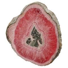 Rhodochrosite Slice Mineral Specimen from Private Collection