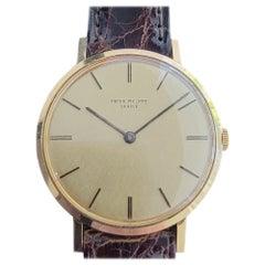 Mens Patek Philippe Calatrava 3537 18ct Solid Gold Watch 1970s Swiss RA238