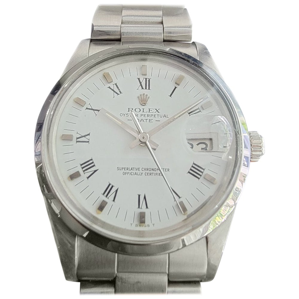Mens Rolex Oyster Perpetual Date 15000 Automatic 1980s with Paper RA247