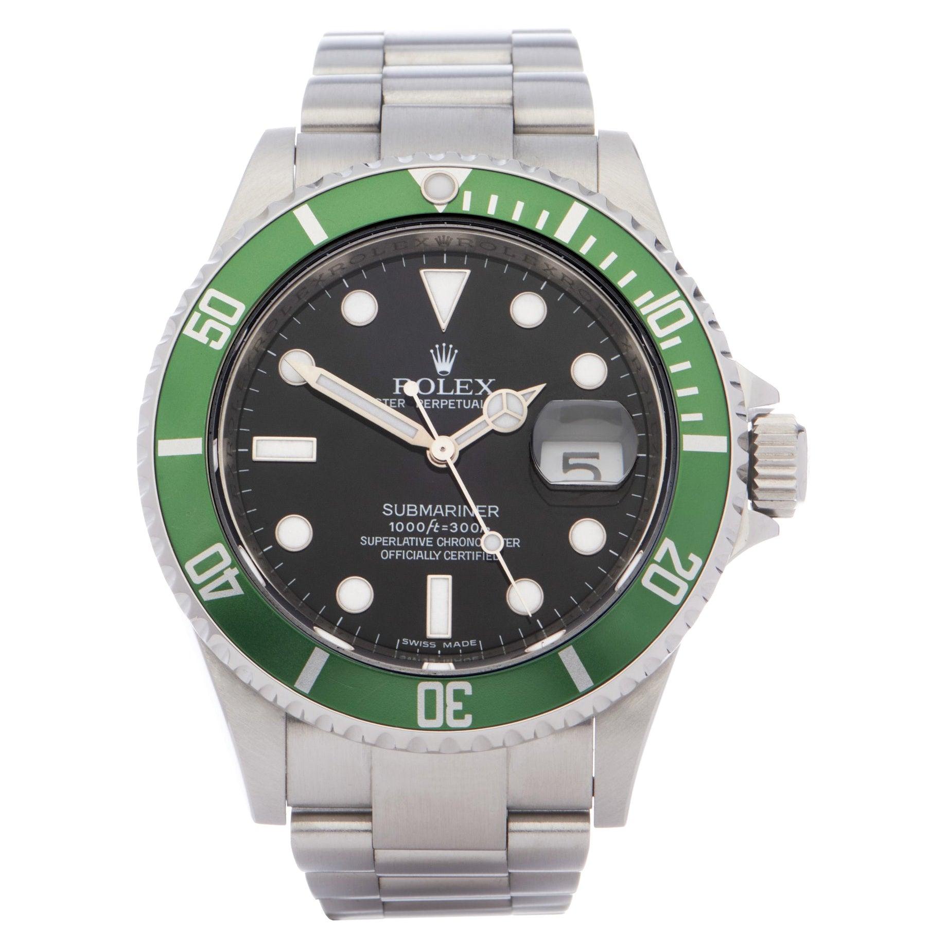 Rolex Submariner 0 16610LV Men Stainless Steel 0 Watch