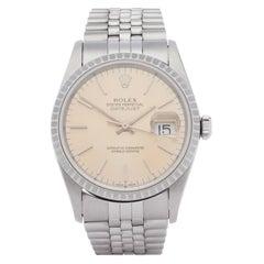 Rolex Datejust 36 16220 Men White Gold & Stainless Steel 0 Watch