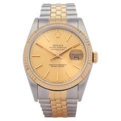 Rolex Datejust 36 16233 Unisex Yellow Gold & Stainless Steel 0 Watch