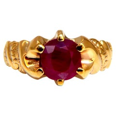 3.50ct. Natural Ruby Solitaire Ring 10kt Gold