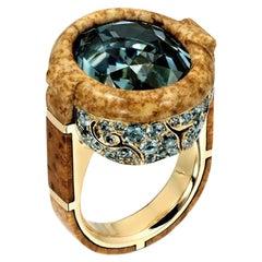 Nicholas Varney Blue Tourmaline Gion Ring