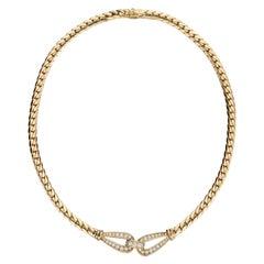 Cartier Paris 1.50ct Round Brilliant Diamond 18kt Yellow Gold Choker Necklace