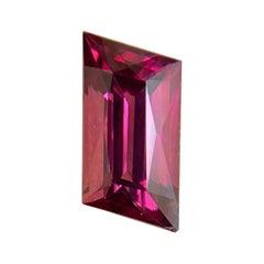 Fine 2.25ct Vivid Pink Purple Rhodolite Garnet Fancy 'Lozenge' Cut