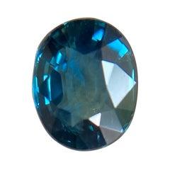 Fine 1.20ct Vivid Blue Australian Sapphire Oval Cut Loose Rare Gem