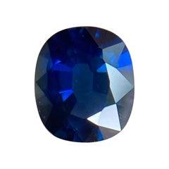 Fine Vivid Royal Blue Australian Sapphire 0.58ct Cushion Cut Gem