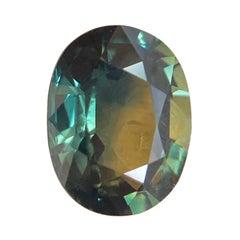 1.04ct Australia Untreated Blue Green Yellow Parti Colour Sapphire