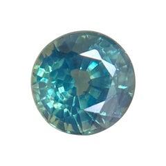 1.04ct Australian Lagoon Green Blue Sapphire Round Diamond Cut Gem