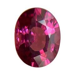 Fine 1.81ct Vivid Pink Purple Rhodolite Garnet Oval Cut Gem