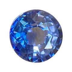 Fine Ceylon Vivid Blue Sapphire 0.39ct Round Cut Sri Lanka Loose Gem