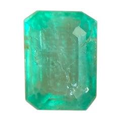 Deep Green Natural Emerald 0.85ct Rare Loose Emerald Octagon Cut Gem