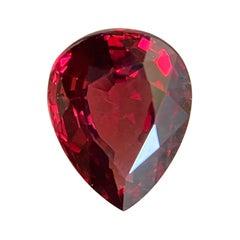 1.96ct Vivid Pink Red Rhodolite Garnet Pear Teardrop Cut Rare Gem