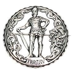 830 Silver Norway Fridtjov Warrior Pin