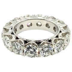6.72 Carat Eternity Ring in 18K White Gold by Bucherer