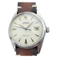 Mens Rolex Oysterdate Precision 6694 Manual Wind 1960s Swiss Vintage RA206