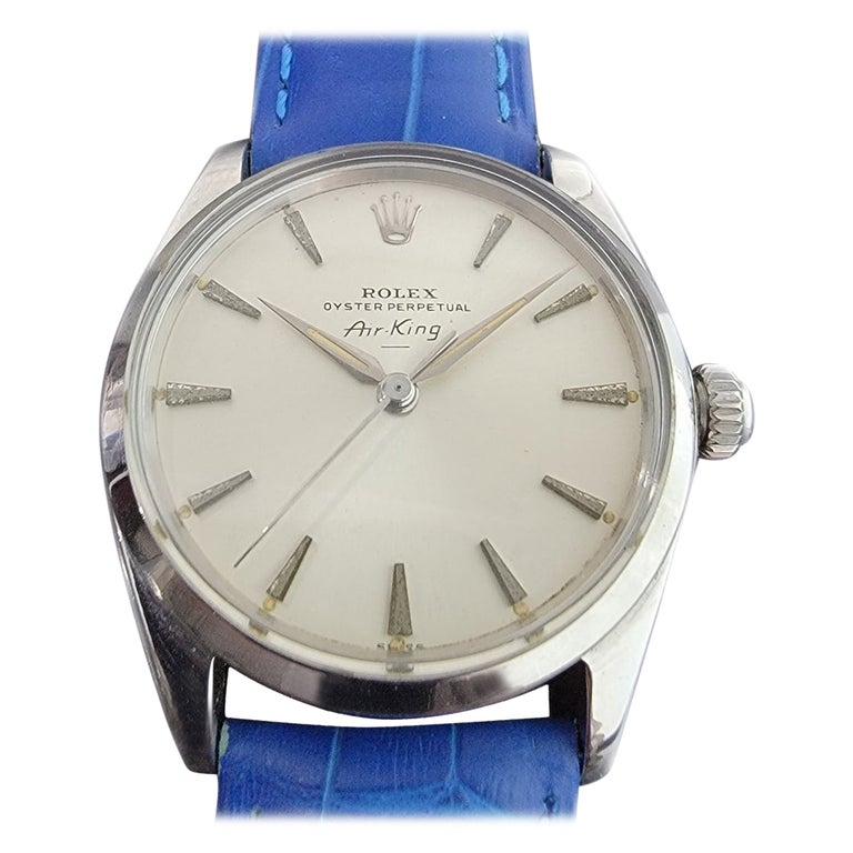 Mens Rolex Oyster Perpetual Air King 5500 Automatic 1960s Vintage RA208 For Sale