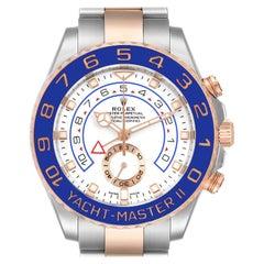 Rolex Yachtmaster II Rolesor EveRose Gold Steel Mens Watch 116681 Unworn
