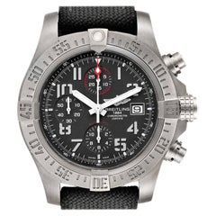 Breitling Avenger Bandit Grey Dial Green Stap Titanium Watch E13383 Box Papers