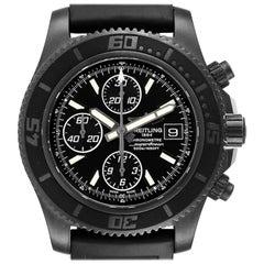 Breitling SuperOcean II Black Dial PVD Steel Mens Watch M13341 Box Papers