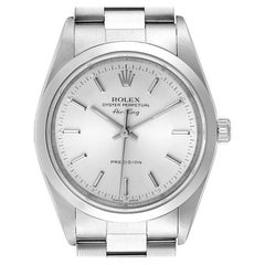 Rolex Air King Silver Dial Smooth Bezel Steel Mens Watch 14000