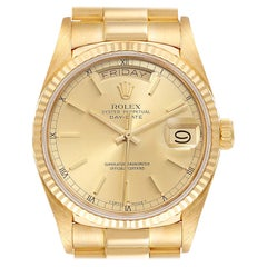 Rolex President Day-Date 18k Yellow Gold Mens Watch 18038