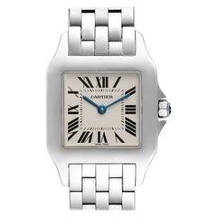 Cartier Santos Demoiselle Steel Midsize Ladies Watch W25065Z5 Box Papers