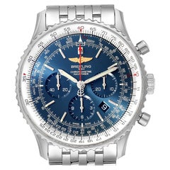 Breitling Navitimer 01 Aurora Blue Dial Mens Watch AB0127 Box Papers