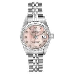 Rolex Datejust Steel White Gold MOP Dial Ladies Watch 79174