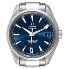Omega Seamaster Aqua Terra Blue Dial Watch 231.10.42.21.03.003 Box Card