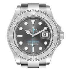 Rolex Yachtmaster Steel Platinum Rhodium Dial Mens Watch 126622