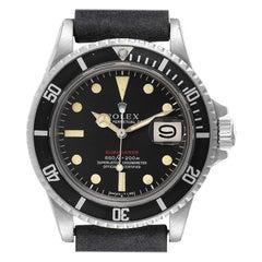 Rolex Submariner Vintage Black Mark IV Dial Steel Mens Watch 1680