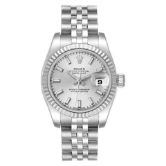 Rolex Datejust Steel White Gold Silver Dial Ladies Watch 179174 Box Card