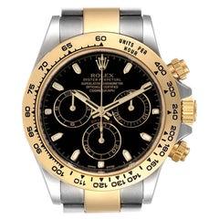 Rolex Cosmograph Daytona Steel Yellow Gold Black Dial Watch 116503 Box Card