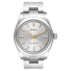 Rolex Midsize Silver Dial Automatic Steel Ladies Watch 277200 Unworn
