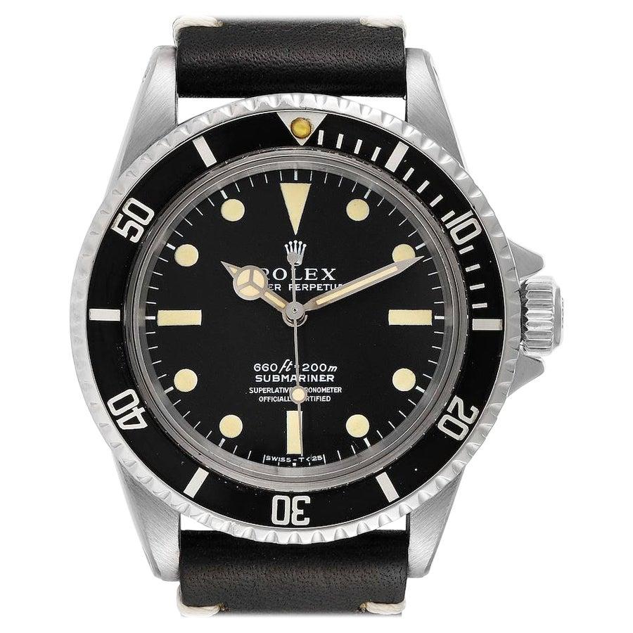 Rolex Submariner Black Dial Vintage Steel Mens Watch 5512