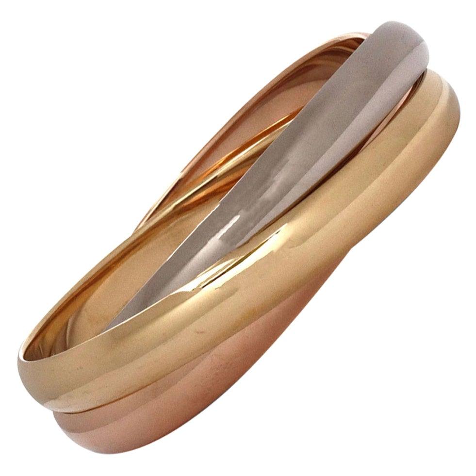 Cartier Trinity Tri-Color Gold Rolling Bracelet
