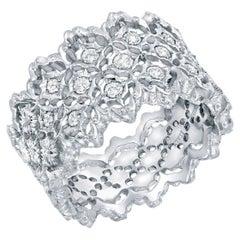 Diamond Wedding Band 0.34 Carat White Gold Ring