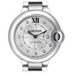 Cartier Ballon Bleu Automatic Diamond Steel Ladies Watch WE902074