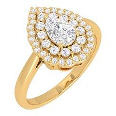 Pear Diamond 14 Karat Gold Diamond Viva Ring