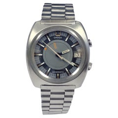 Vintage Omega Seamaster Memomatic Self Winding Alarm Wrist Watch