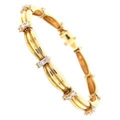 Vintage Tiffany & Co. Diamond Gold Bracelet